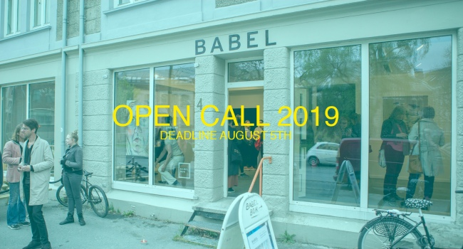 GALLERI BABEL OPEN CALL